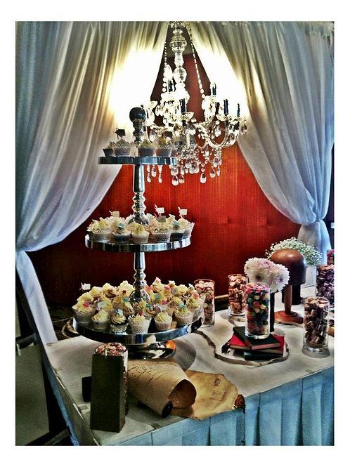 Silver Regency Cake Stand