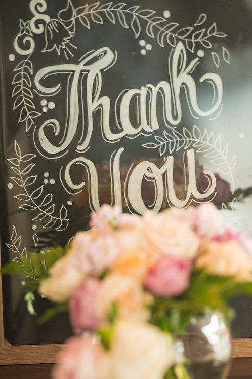 """Framed """"Thank You"""" Sign"""