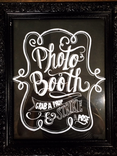 Framed Photo Booth Sign