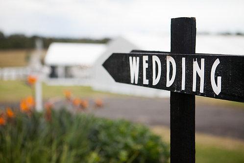 Wedding Street Sign