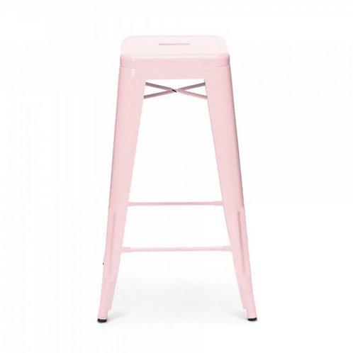 Blush Pink Tolex Stool
