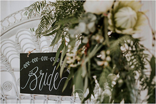 Bride & Groom Chalkboard Signs