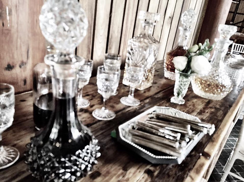 Assorted Crystal Decanters