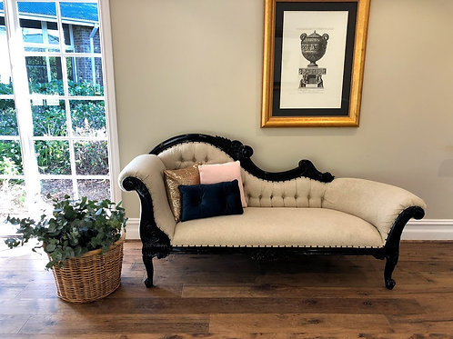 Black & Cream Chaise Lounge