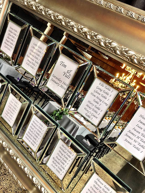 Mirrored Guest Seating Board