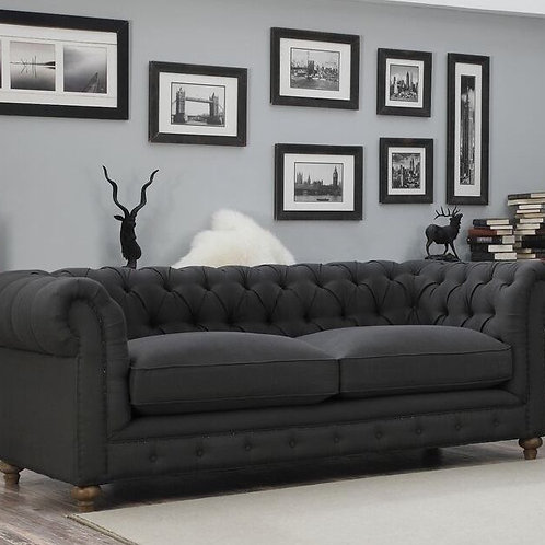 Chesterfield Lounge 3 Seater - Ink