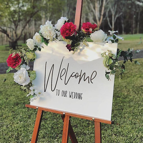 Welcome to our Wedding - White Sign