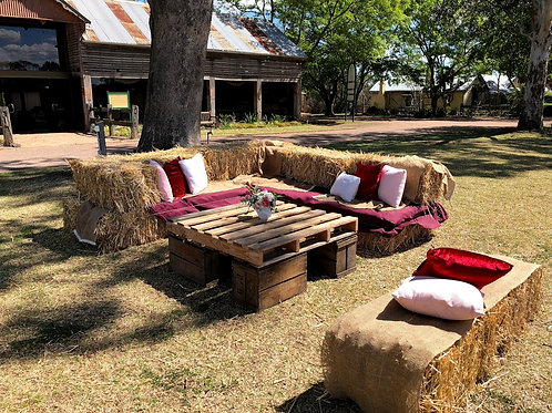 Hay Bale Seating - POA