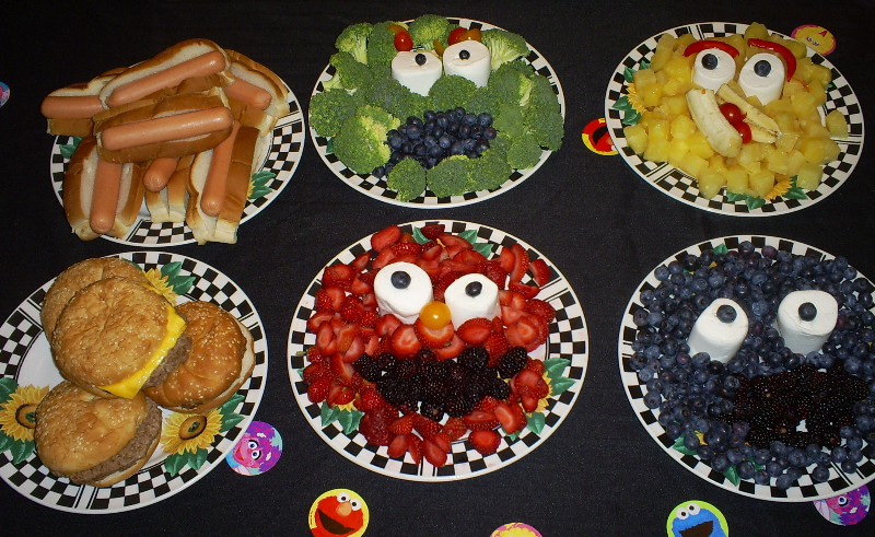 Sesame Street themed lunch