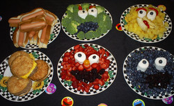 Sesame Street themed lunch