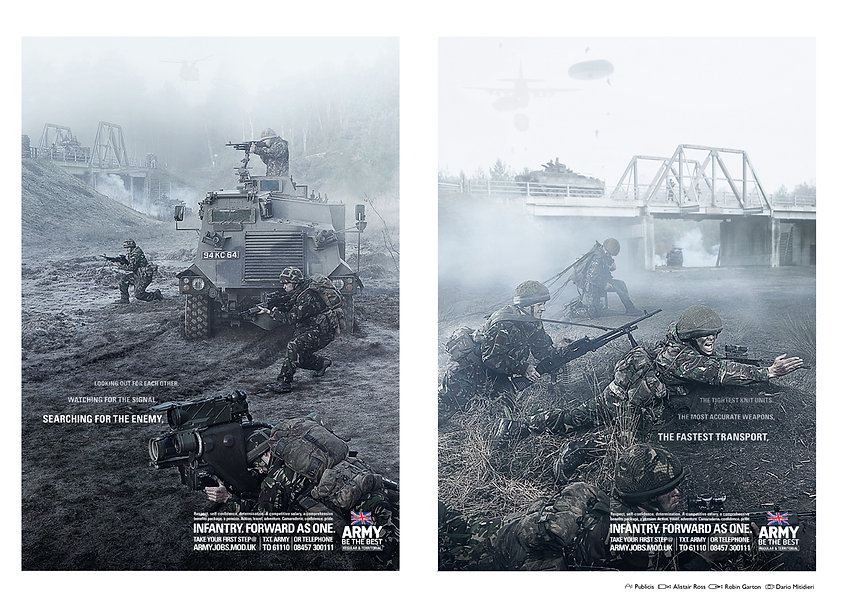 British Army Infantry Print Campaign 2