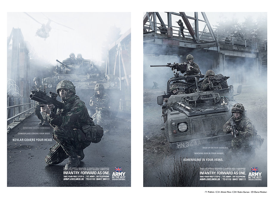 British Army Infantry Print Campaign