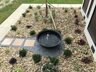 Water Feature within our landscape design