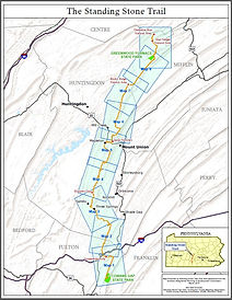 Standing Stone Trail Map 1