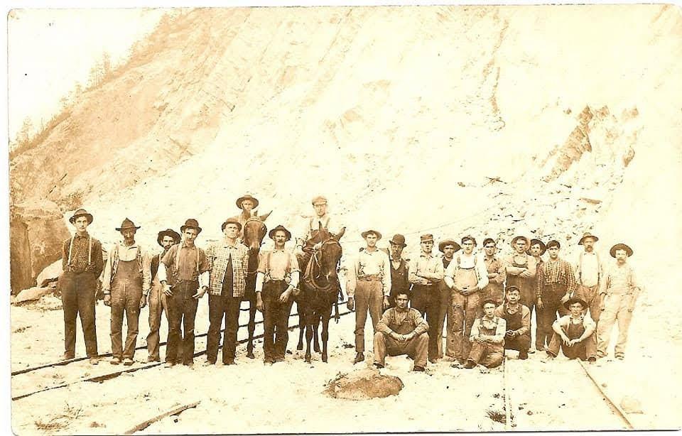 Group Photo at quarry near Mt. Union, PA