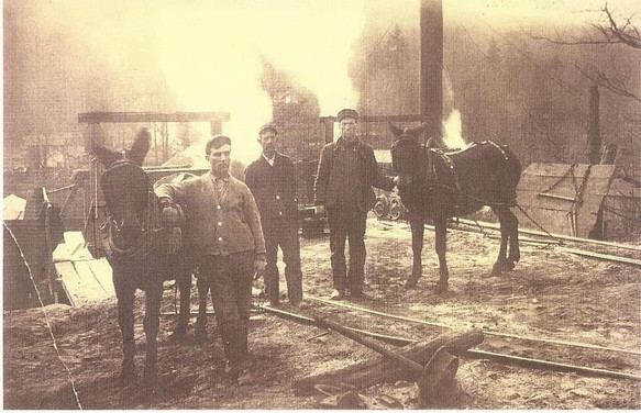 Workers and horses
