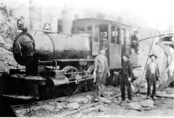 Locomotive at the quarry near Mt. Union, PA