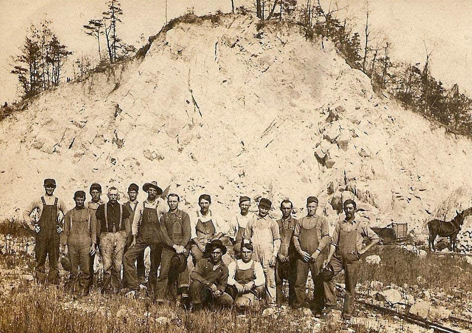 Group Photo at the quarry near Mt. Union, PA