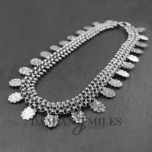Victorian Silver collar necklet