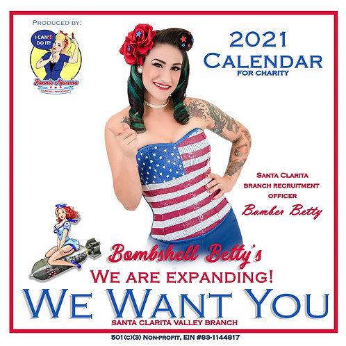 2021 Bombshell Betty's Calendar