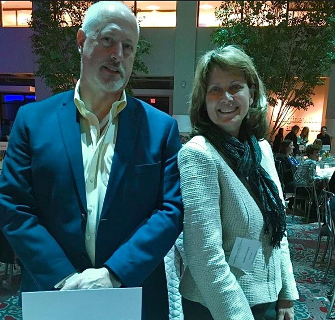 Chief Operations Officer, Suzanne Furlani, sits on the board for Mental Health Advocates of WNY.  Pictured are Sue and CEO Peter Ronca at the Mental Health Advocates of WNY annual fundraising dinner.