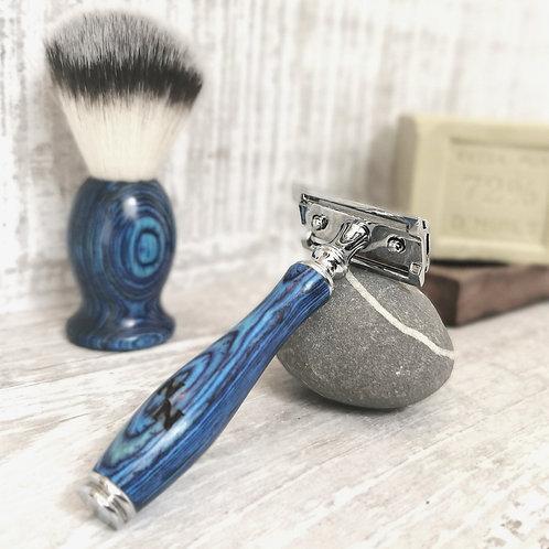 Shaving Brush Ocean Blue