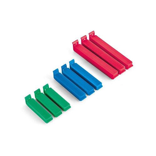 Conjunto com 9 Clips para Embalagens P/M/G