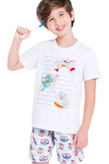 Pijama Manga Curta para Colorir