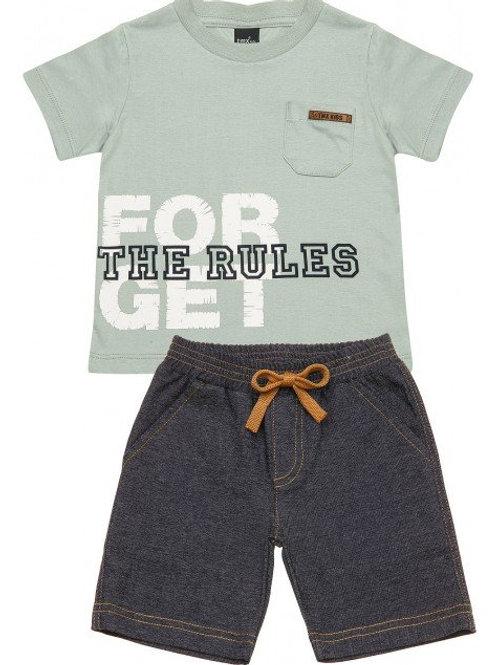 Conjunto Camiseta e Bermuda Sarja
