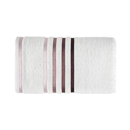 Toalha Lumina Banho Branco/Roxa