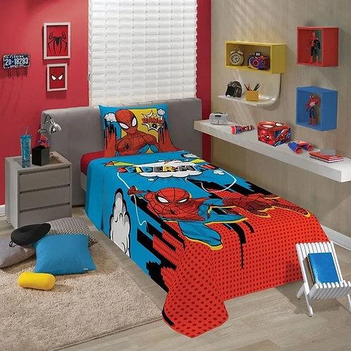 Jogo de Cama Solteiro Infantil Homem Aranha 2 Peças