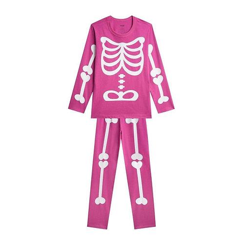Pijama Feminino Esqueleto