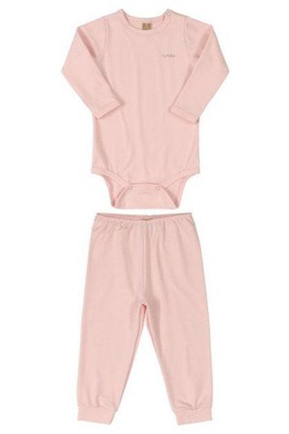 Pijama Body e Calça em Malha Energy