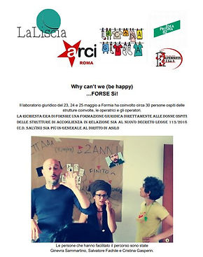 Laboratorio ludopedagogia Whay can't we be happy