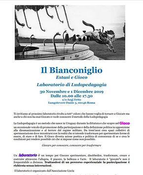 "Laboratorio ludopedagogia  ""Bianconiglio"""