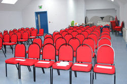 Hall set up as a conference