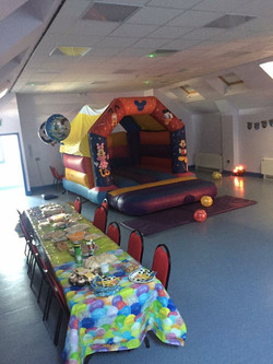 Hall as party room