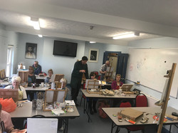 Porthcawl YMCA used set up for a art cla