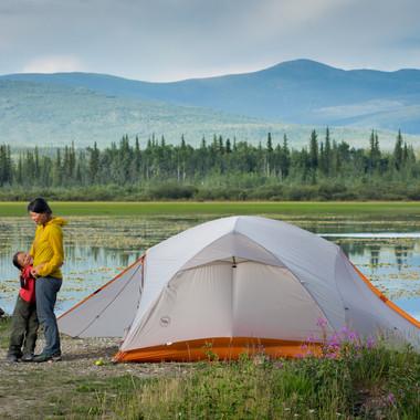 Klondike Highway campsite