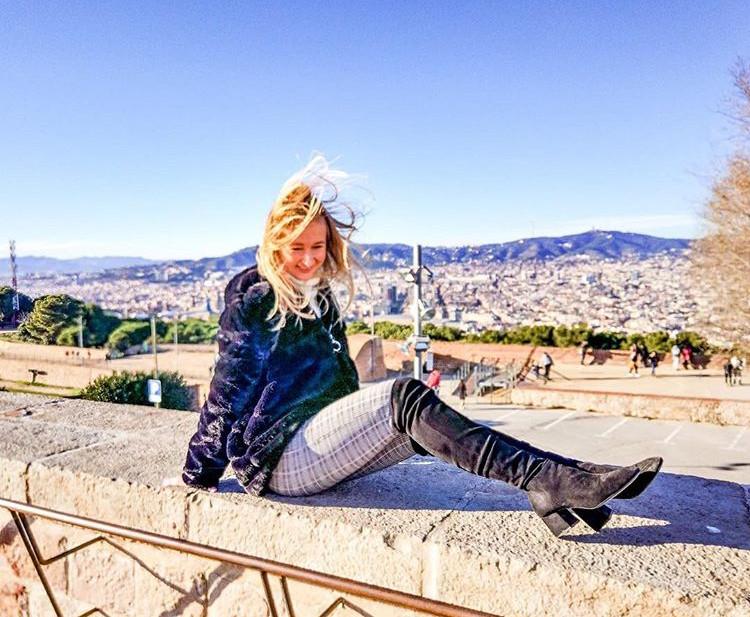 sitting on a ledge