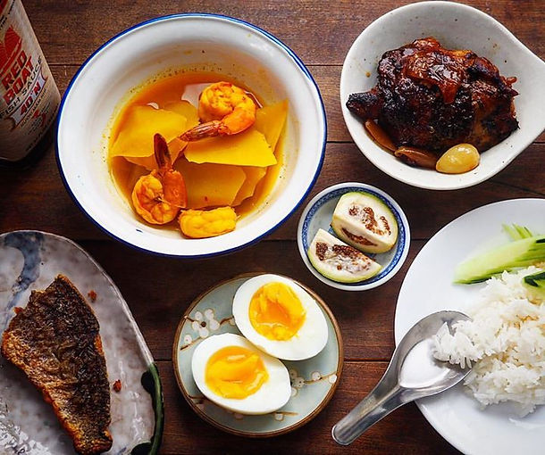 #วิถีพอเพียง  ... simple home cook dinne