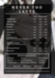 Black and White Coffee Flatlay Price Lis