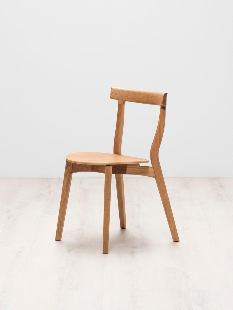 白橡木/木椅面