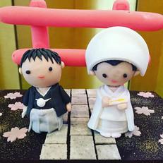 結婚式の特注和菓子例