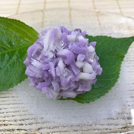 きんとん製 紫陽花 (紫)
