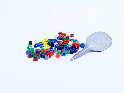 Anillas plástico 3 mm.(100 unidades)