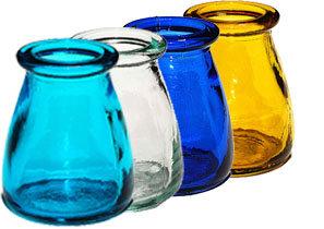 Bebedero cristal colores