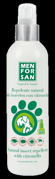 Repelente natural de insectos con citronela