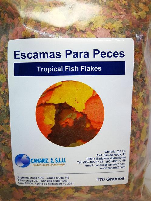 Escamas (tropical fish flakes)