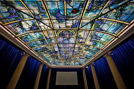Tiffany window skylite by Tiffany studios